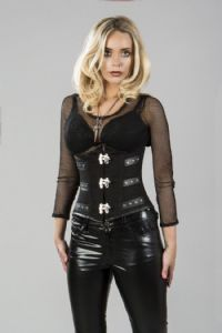 C-Lock Underbust Corset In Black Twill